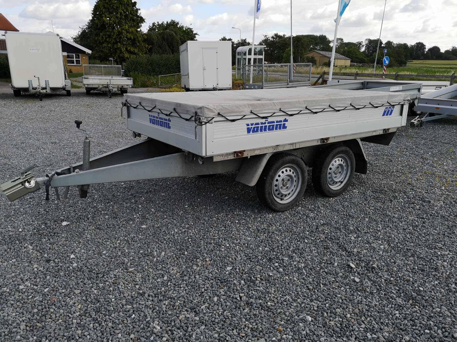 Variant 756 A Alu trailer - brugt - med kraftig presenning - nysynset